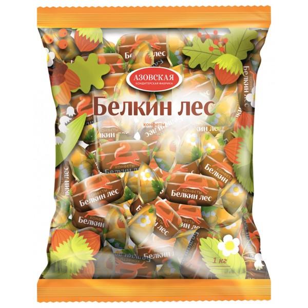 АЗОВ Конфеты помадные глазир. Белкин лес 4*1 кг