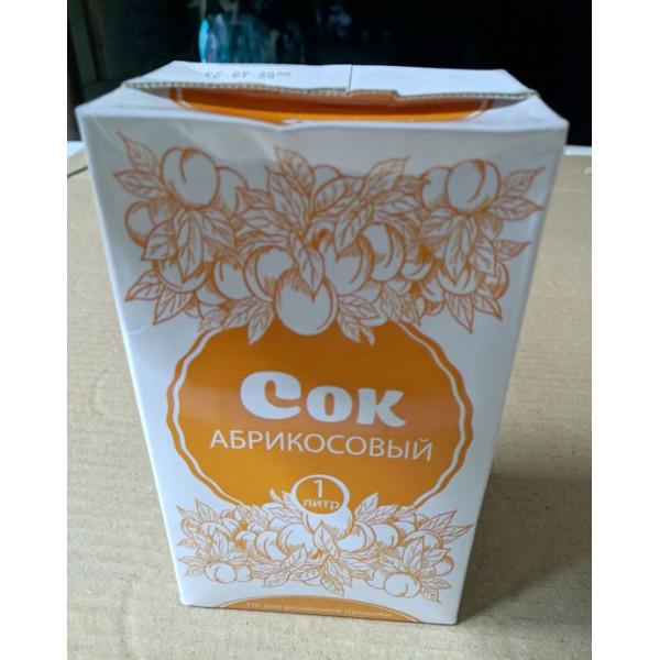Сок абрикосовый с мякотью, восстановленный 1л., к/упак. (Не для розничной продажи)