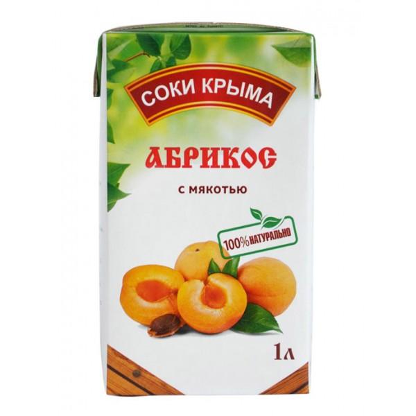 Сок абрикосовый НКЗ 1л Т/П 1/12