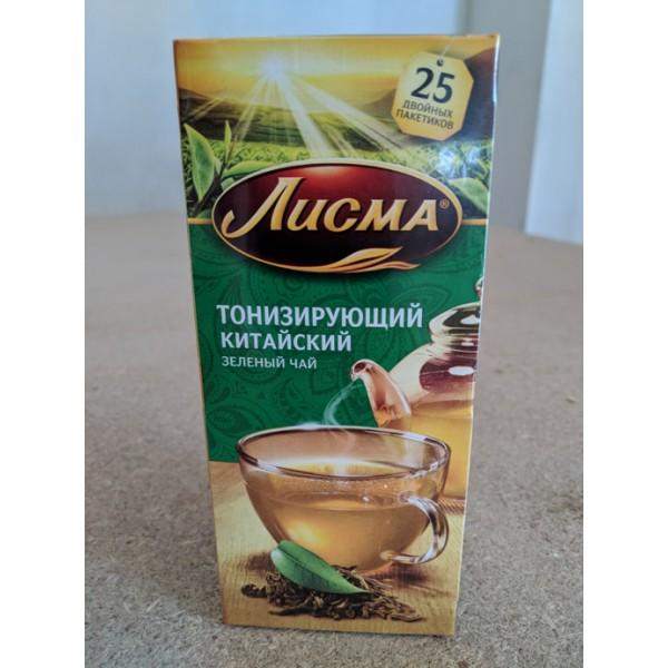 Чай Лисма зеленый Тонизирующий 25л/1.5г зел. с/н/27