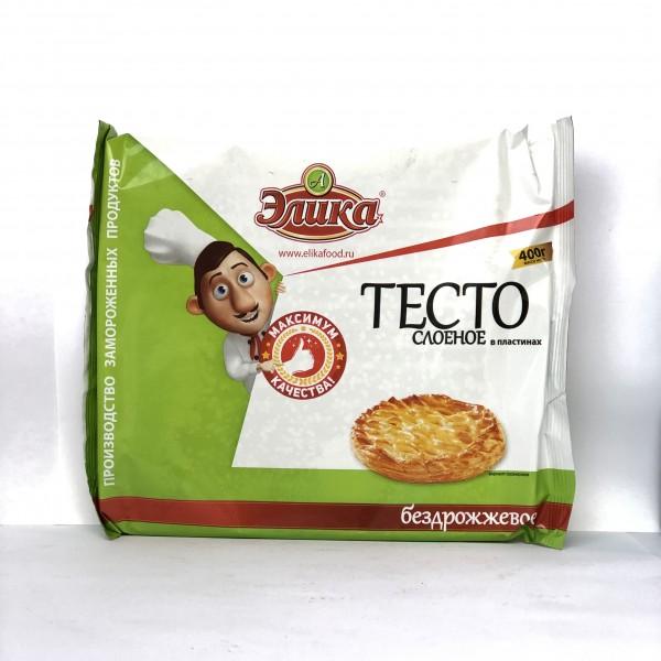 Тесто бездрожжевое слоеное 400 гр*10 шт (20%)