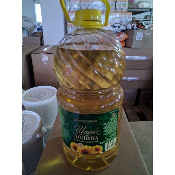 Масло подсолнечное рафинированое 5 литр