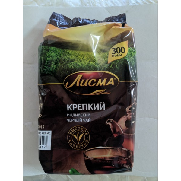 Чай Лисма черный Крепкий 300гр. уп./18