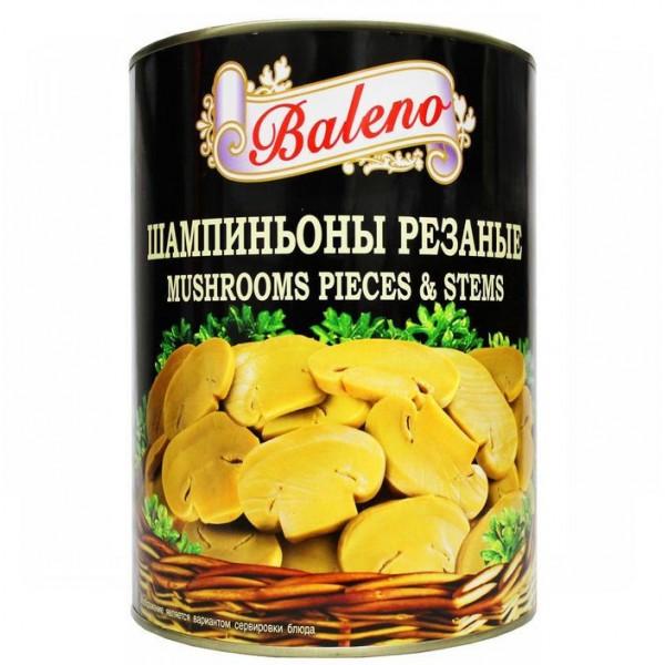 """Baleno"" Шампиньоны резаные 3 кг. ( жест/б) :6шт"