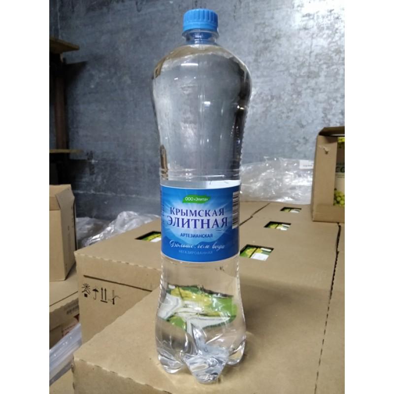 """Вода питьевая """"КРЫМСКАЯ ЭЛИТНАЯ"""" (негазированная, питьевая) бутылка 1,5 л"""