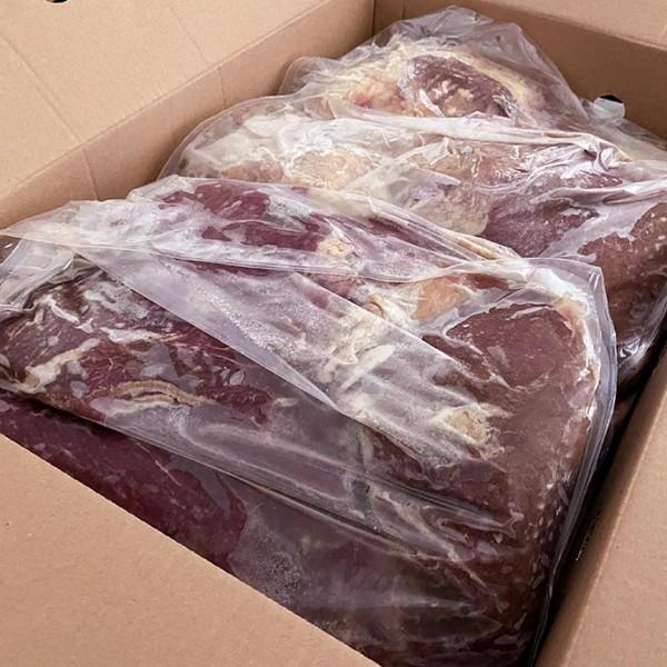 Блоки из жилованного мяса говядины заморож.90/10 (1сорт)РОСС RU.СП29.НО1347Срок 14.02.19 по 13.02.22