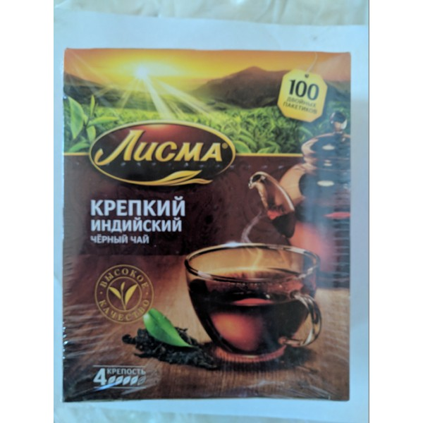 Чай Лисма черный Крепкий 100п/2г с/н/6