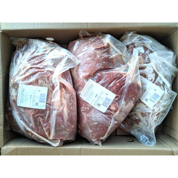 Мясо говядины замороженное в блоках, для производства питания детей раннего возраста, Класс А, групп