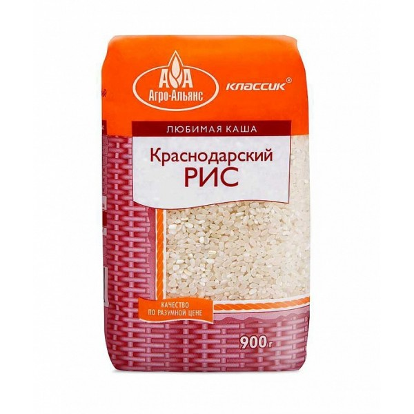 "Рис круглозерный ""Каскад"" фас.900гр. АГР"