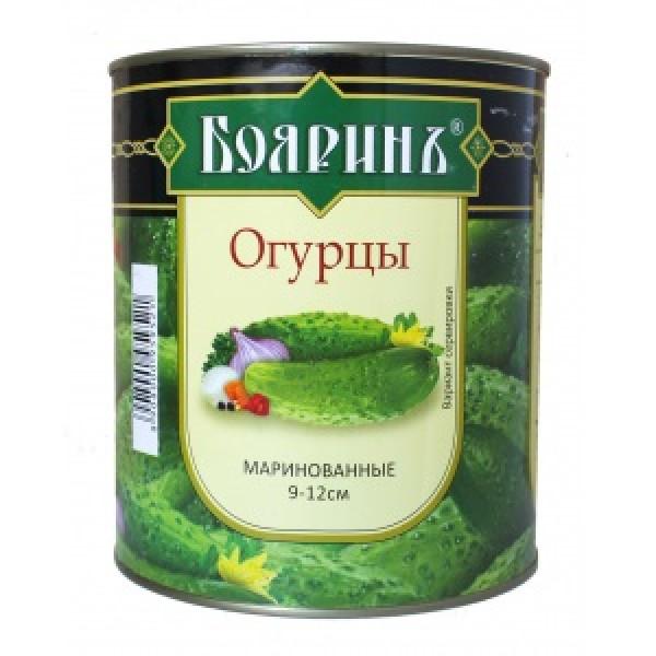 """Огурцы мар. """"Бояринъ"""" 3100мл (6-9см) ж/б 1/6"""