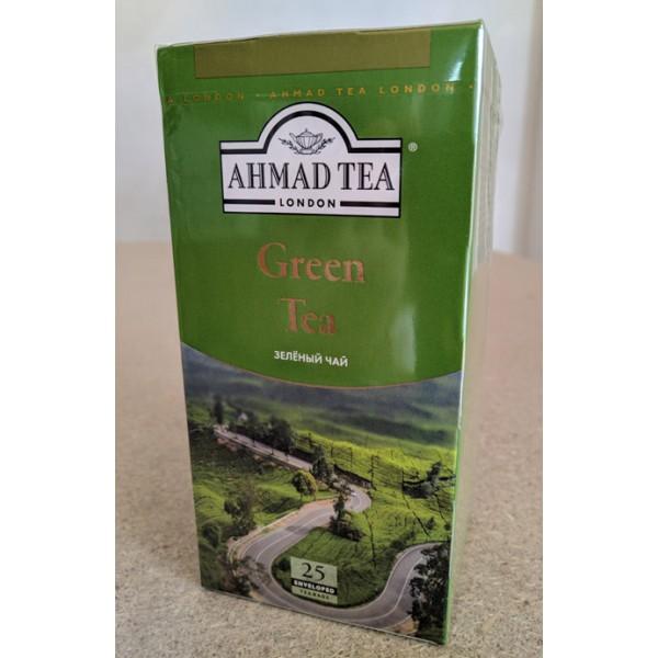 AHMAD TEA Зелёный чай пакет 25*2г 12шт фольг. ОПТ (589-012)