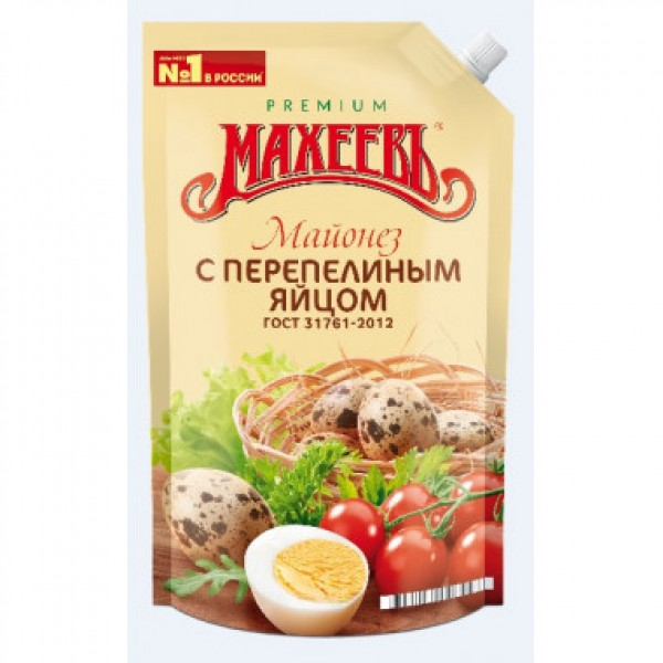 "МАХЕЕВЪ Майонез ""С перепелиным яйцом"" 67% д/п 400мл 20шт"