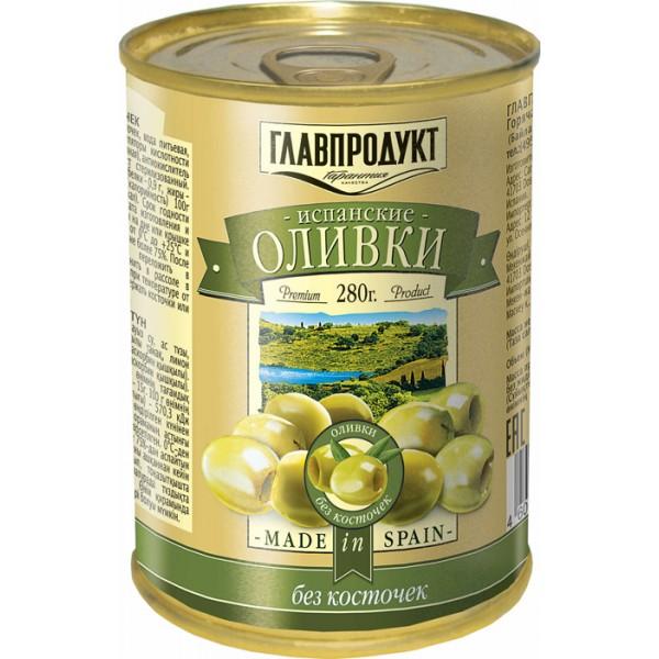 Оливки зелёные без косточки 300мл 12шт ТМ ГЛАВПРОДУКТ