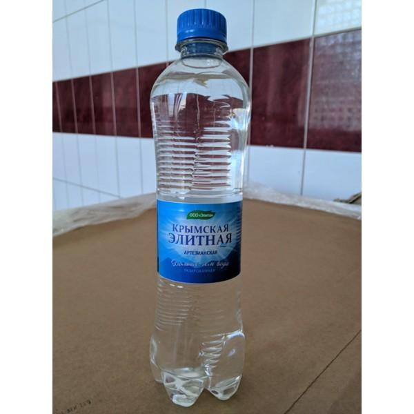 """Вода питьевая """"КРЫМСКАЯ ЭЛИТНАЯ"""" (газированная, питьевая) бутылка 0,5 л"""