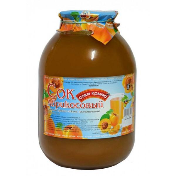 Сок абрикосовый с мякотью, 3л.