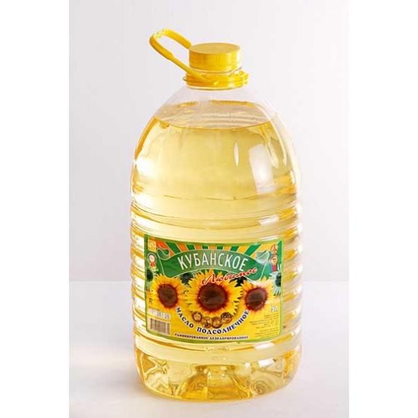 Масло  подсолнечное рафинированное 5 литр