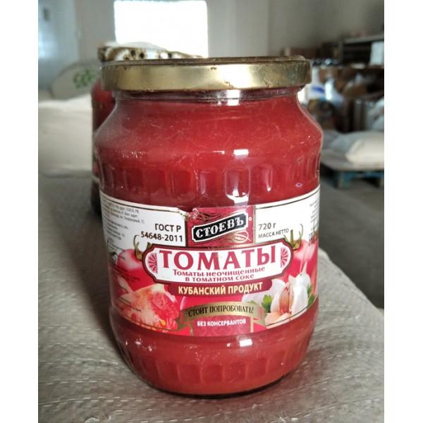 Томаты в томат.соке Стоевъ 720гр. с/б (евро) Стоевъ