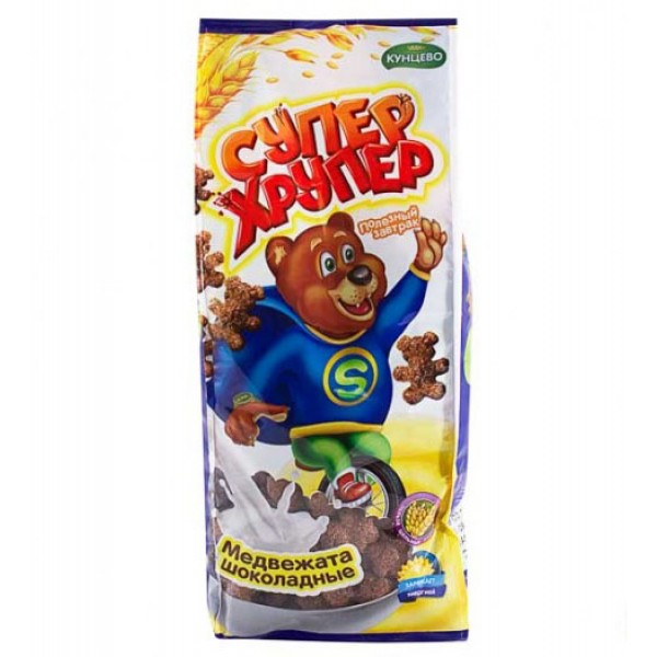 Медвежата шоколадные фас.200гр. Супер Хрупер  Кунцево