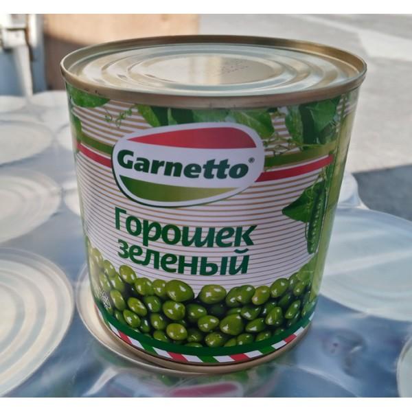 """Консервация овощная Горошек зел. ТМ""""Гарнетто""""400гр ж/б 12шт (БМП)"""