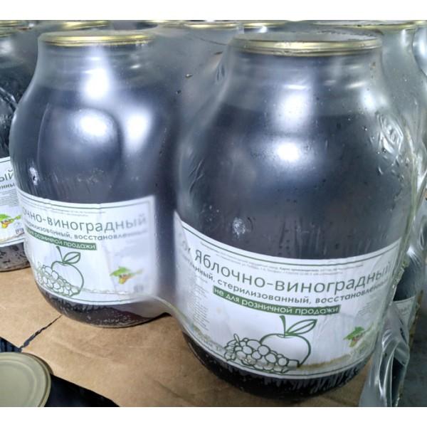 Сок яблочно-виноградный, восстановленный, 3 л.