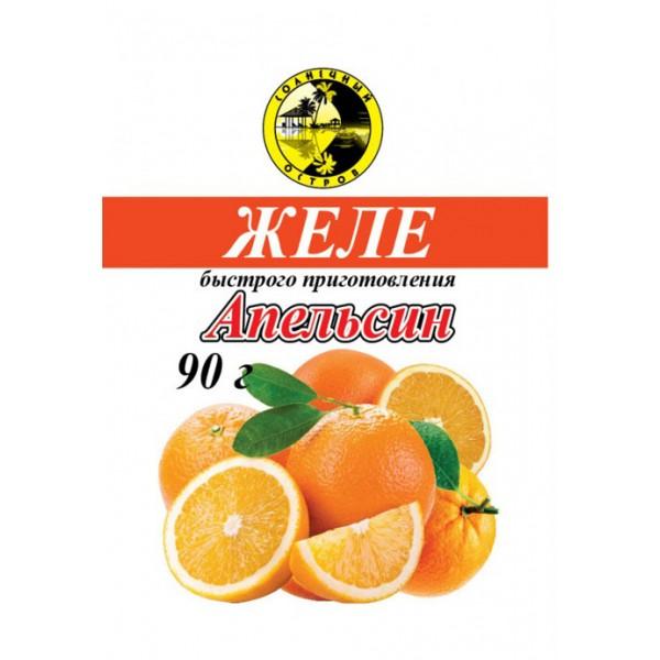 Желе Апельсиновое фас.90г/25. Солнечный остров