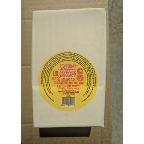 """Масло КК """"Традиционное"""" сладко- сливочное несоленое  82,5% 400гр.*8шт ЕАЭС N RU Д-RU.ВЕ02.В.05662/19"""