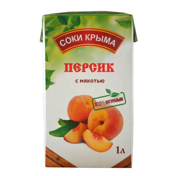 Сок персиковый НКЗ 1л Т/П 1/12
