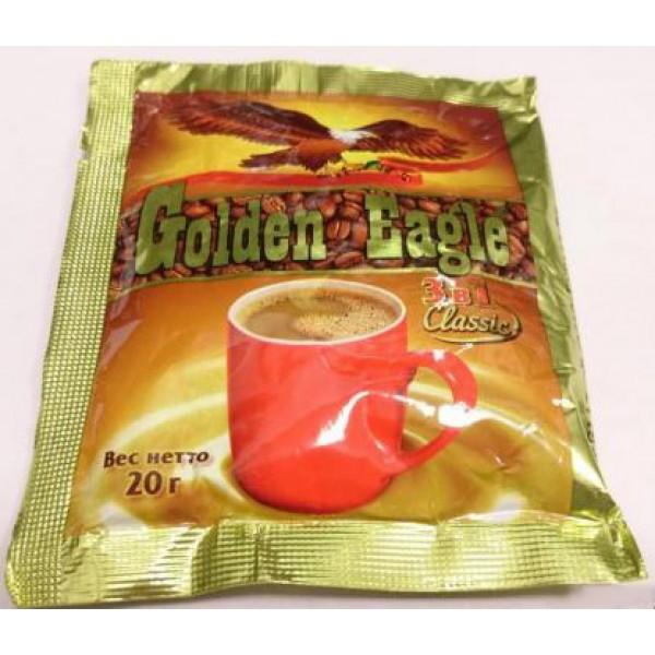 Кофейный напиток быстрораст. 3 в 1 (20гр*10шт*50бл) 500шт ТМ Golden Eagle