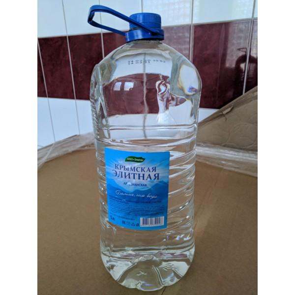 """Вода питьевая КРЫМСКАЯ ЭЛИТНАЯ"""" (негазированная питьевая) бутылка 5,0л"""