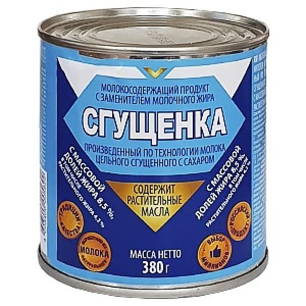 Молоко  -Сгущенка МСП 380гр ж/б 1/45 МСП сгущ. с сахаром