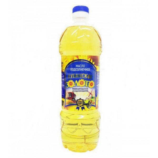 """Масло подсолн. """"Кубанское золото"""" раф. 1л*15"""