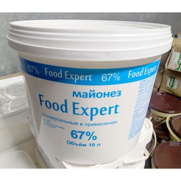 Майонез Food Expert 67% ведро 9650г 1 шт (907) ТМ Мечта Хозяйки
