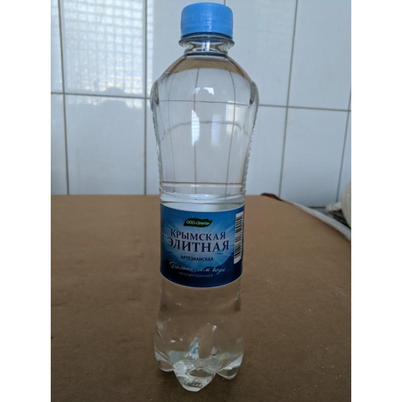 """Вода питьевая """"КРЫМСКАЯ ЭЛИТНАЯ"""" (негазированная, питьевая) бутылка 0,5 л"""