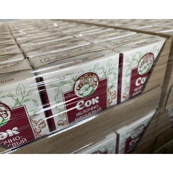 Сок Яблочно-вишневый осветленный  востановленный.0,2 л..к/упак.