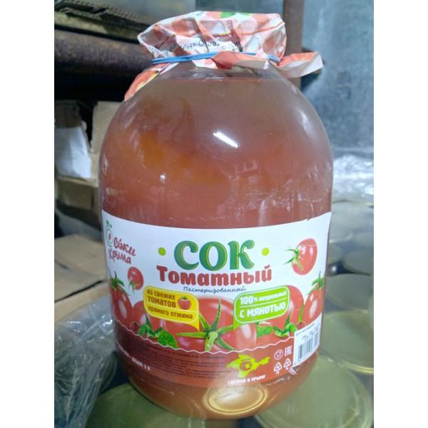 Сок томатный прямого отжима, 3л.