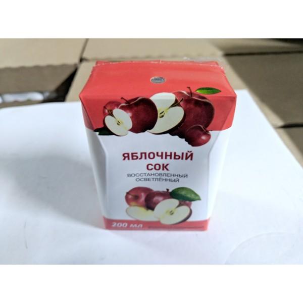 Сок Яблочный фрукт. восставновлен. освет. Tetra pak 0,2л.(27) base crystal Гост 32103-2013 (3564шт)