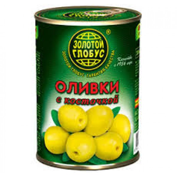 """Оливки """"Золотой глобус"""" б/к  280гр. ж/б  1/12"""