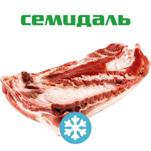 Грудино-реберный отруб свиной с пашиной на кости ЗАМОРОЖЕННЫЙ (вакуумный пакет)
