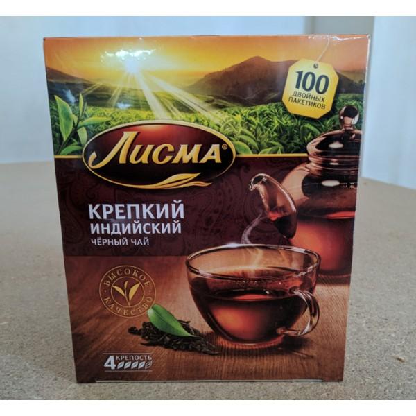 Чай Лисма черный Особо Крепкий 100п/2,3г с/н/6