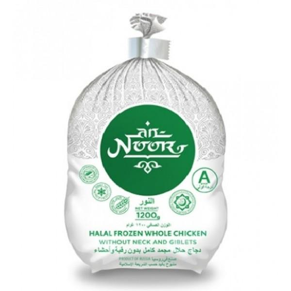 Тушка цыпленка-бройлера Халяль 1,1кг ЗАМОРОЖЕННАЯ, Пакет, 1 сорт