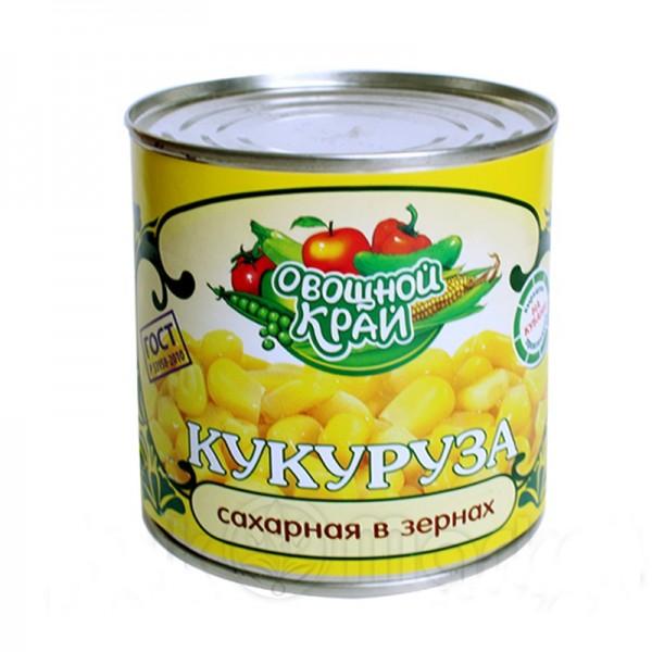 """Кукуруза """"Овощной край"""" ж/б 400 гр. 1/12"""