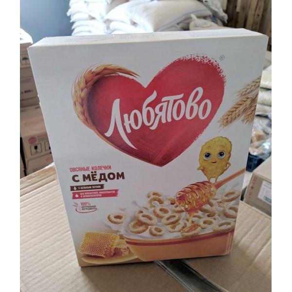 Овсяные колечки с медом  фас.200гр. 10шт  ТМ Любятово