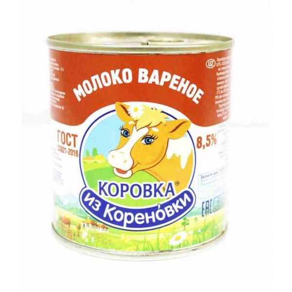 Молоко сгущен.с сахаром  вареное КЛЮЧ ГОСТ 8,5%  370гр. ТМ Коровка из Кореновки