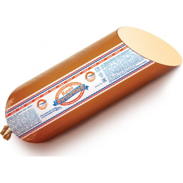 Сыр плавленный-Продукт плавленый с сыром колбасный копченый 45% Янтарный Край пленка 8кг