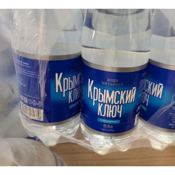 Вода питьевая газированная Крымский ключ 0,5 литра