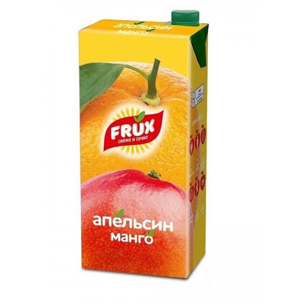 """FRUX 1л """"Апельсин-манго"""", сокосодержащий напиток с крышкой"""