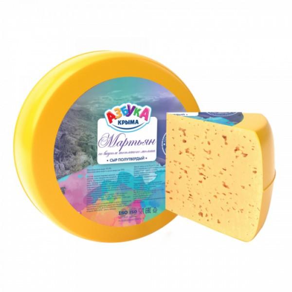 """Сыр """"Мартьян"""" с топл.молоком 50% 7кг АЗБУКА"""