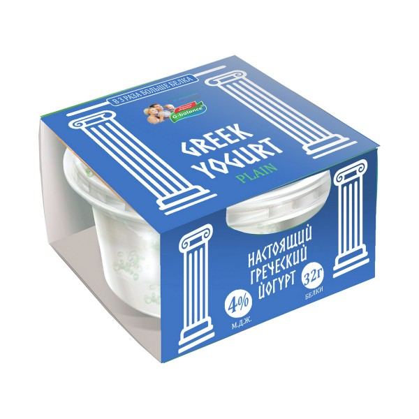 Йогурт греческий G-balance 4% 0,17л пл/стакан*6
