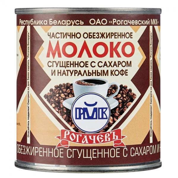 РОГАЧЕВ Молоко сгущ. 7,0% и натуральное кофе 380г. ж/б *30шт. Беларуссия