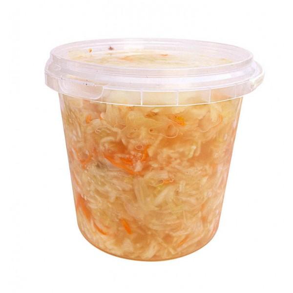 Капуста квашеная с морковью (1кг)